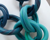 Split Ring Necklace - turquoise