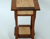 LampTable - Walnut and Elm, Handmade