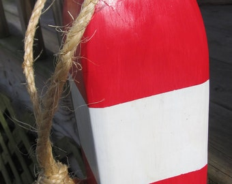 Wooden Buoy Handmade Nautical Decor. Beach Decor. Door Stop. Made To Order