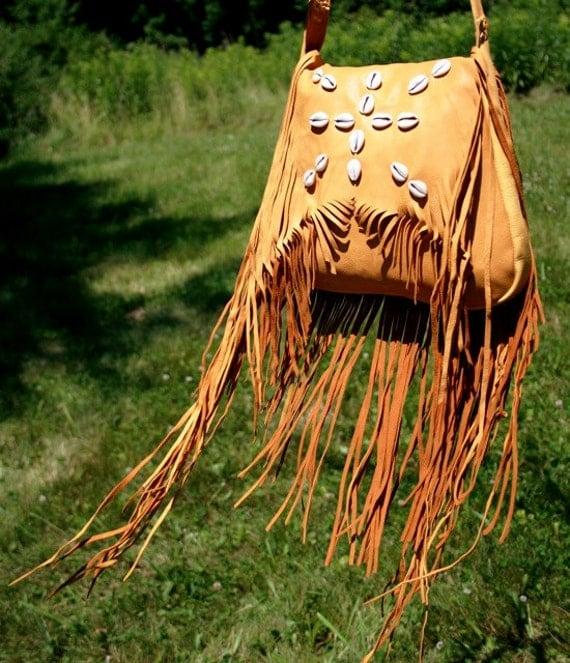 Deerskin Bag with Cowries