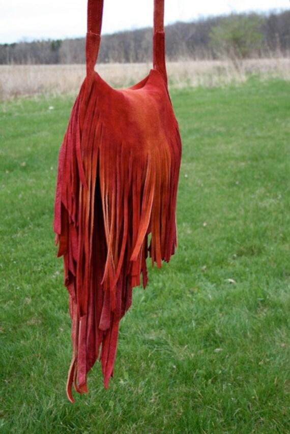 Fire Tie Dye Fringe Bag III, Reserved 4 Sonya..special price 4 repeat customer