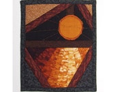 Sun and Water Mini Art Quilt Beaded Collage Made to Order Fiber Art Textile Art
