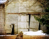 Old Barn Winter Photograph - farm, country, rustic, simple life