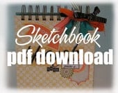 PDF Printable Template -- Pages for Scrapbooker Sketch Book -- Create Your Own Sketches
