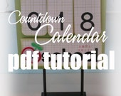 PDF Tutorial - Countdown Calendar - Makes a Great Gift