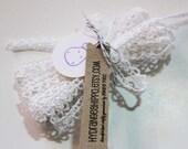 Crisp White Crochet Mini Lace - 3 Yards