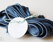 Steel Blue Satin Piping - 3 Yards