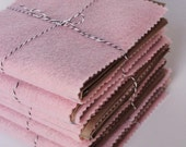 NEW ---- Sweet PINK Felt and Paper Bag Book - 24 Pages, pinked edges, super cute
