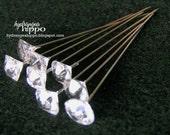 Set of 8 GORGEOUS Clear Gem Decorative Stick Pins