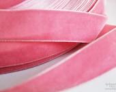 Gorgeous PINK Velvet Ribbon Trim- 3 Yards