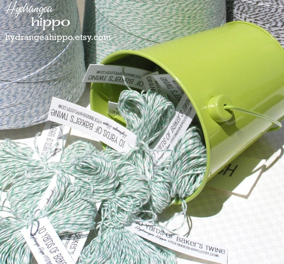 Baker's Twine - Green and White  -- 20 Yards