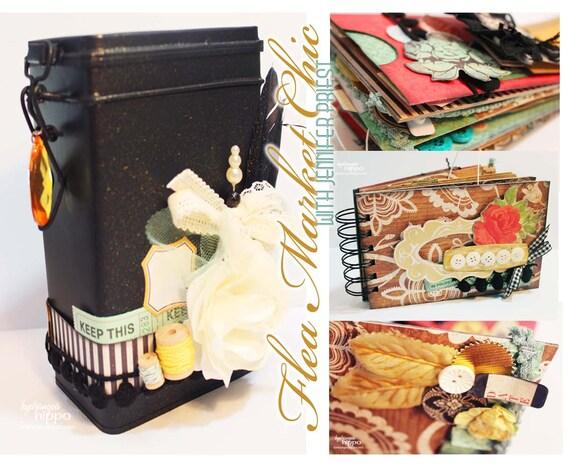 SALE ------ Flea Market Chic Mini Book - includes tin - LAST ONE