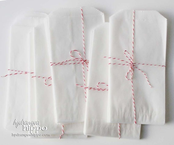 3x6 Glassine Bags, Set of 10