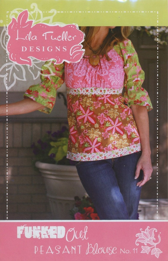 Lila Tueller Pattern Funked Out Peasant Blouse No. 11