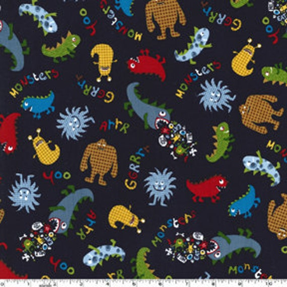 Monsters by Michael Miller CX5185 Navy