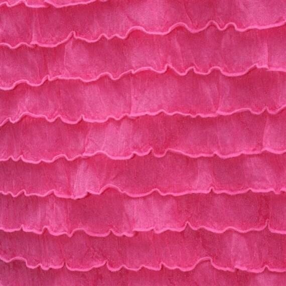 "Bright Pink Cascading 1"" Ruffle Fabric RF-10BRIGHTPINKCASCADE54"