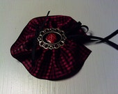 Odds 'N Ends Gothic Red Rose Brooch