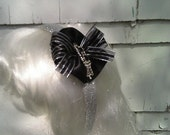 Sparkling Elegance in Black and Silver Headband