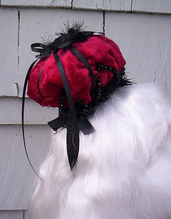 Red and Burgandy Majestic Gothic Lolita Crown