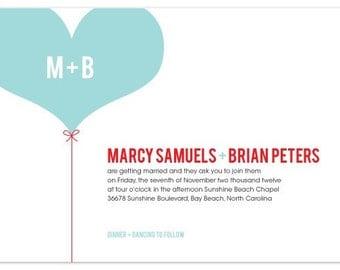 DIY Printable Wedding Invitation Set - Cheerfuly Whimsical