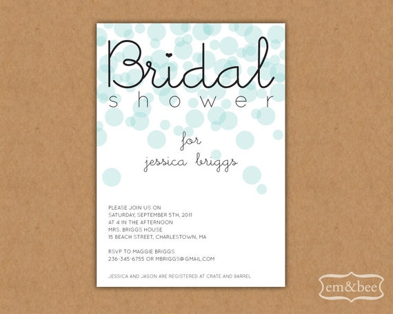 Items similar to Bridal Shower Invitation Sample
