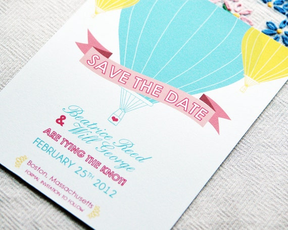 Save the Date Sample - Hot Air Balloon