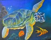 Hawkbill Sea Turtle