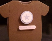 Welcome Little One - Onesie Baby Card (Boy)