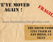 We've Moved Again Announcement - Custom Designed (Printable)