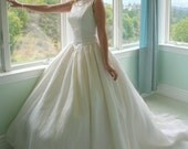 Vintage Priscilla Wedding Gown with Full Train and Optional Bustle SALE WAS 995