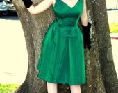 Custom Couture Silk Satin 60s Cocktail Dress  Any Size Color and Length