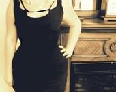 Custom Couture Marilyn Monroe Black Silk Sexy Wiggle Dress