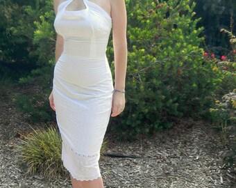 Mariyln Monroe's Eyelet Wiggle Sundress Custom Made to Fit