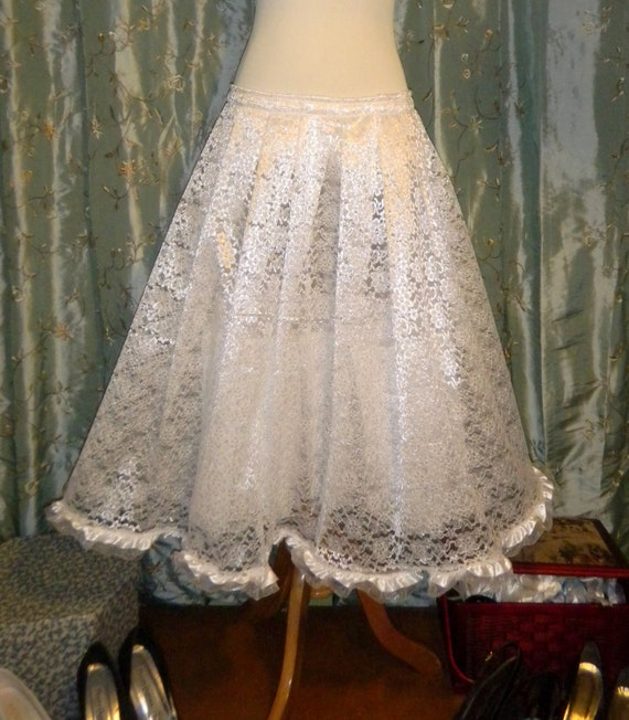 Tulle Skirt Custom Made to Fit Bridal Petticoat with Lace and Tulle - As Many Layers as You Want