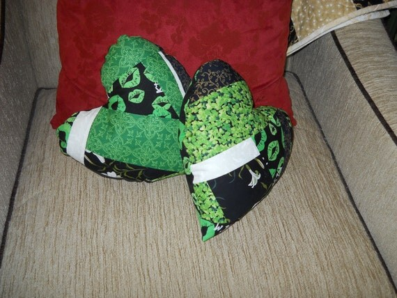 St. Patricks Day Heart-shaped pillows