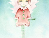 Mistletoe Angel Note Card