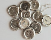 CHRISTMAS  /  STOCKING Stuffer / Monogrammed Initial  Wax Seal Pendant / Great PERSONALIZED Gift / buy 4 get the 5th free