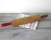 Farmhouse Rolling Pin with Red Handles