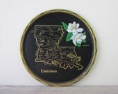 Metal Louisiana Souvenir Travel Tray