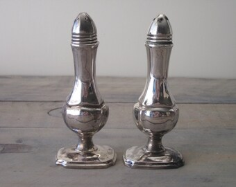 Silver Plate Salt and Pepper Shakers