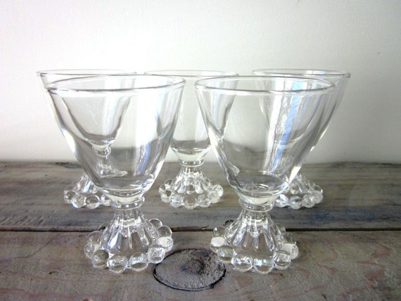 Beaded Cordial Cocktail Glasses Set of 5