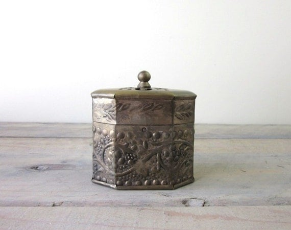 Old Silverplate Trinket Box - Tarnished and Aged