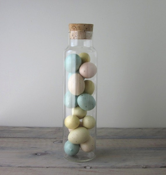 Tall Glass Canister Apothecary Jar with Cork Lid