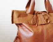 Basico collection - leather tote in waxy toast brown (made-to-order)