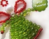 DIY PDF Tutorial - Little Angel, Beaded Ornament / Souvenir / Party favor