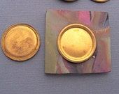 16 Raw Brass Low Wall Bezel. Round. 13mm Cabochon Setting. 16PCS