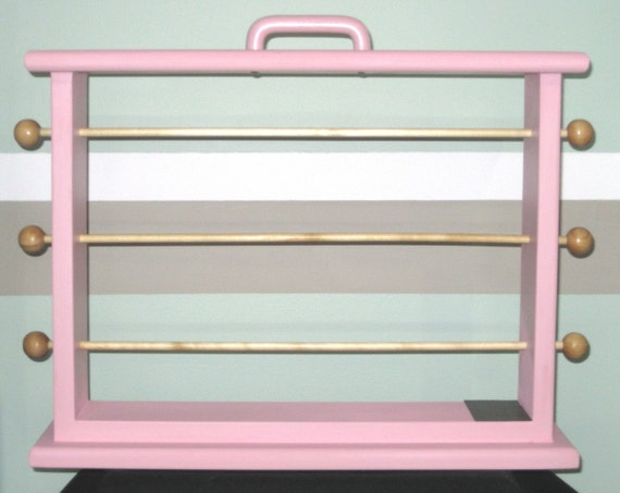 Pink Large Ribbon Storage Rack  Scrapbookers and Crafters organize al ofl your ribbon.