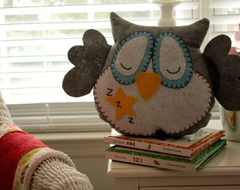 HOOT owl pillow.  The Sleepytime Collection