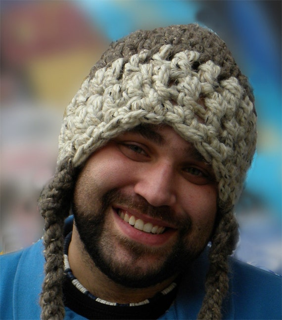Amigurumi Earflap Hat : Crocheted Earflap Hat