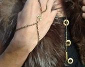 SALE Brass Swirl Slave Bracelet